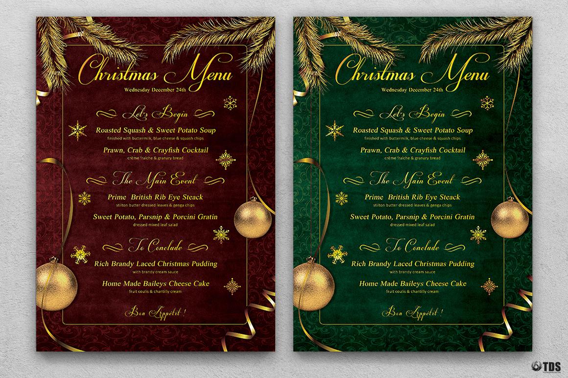 Christmas Menu Template V1 example image 2