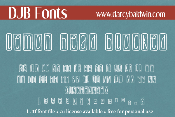 DJB Lemonhead Font Bundle example image 5