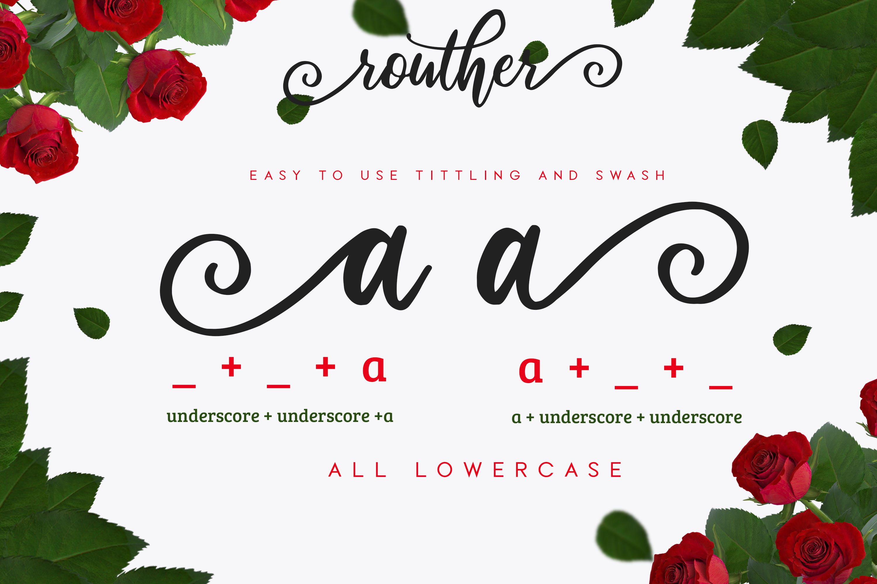 routher - beautiful script font example image 4