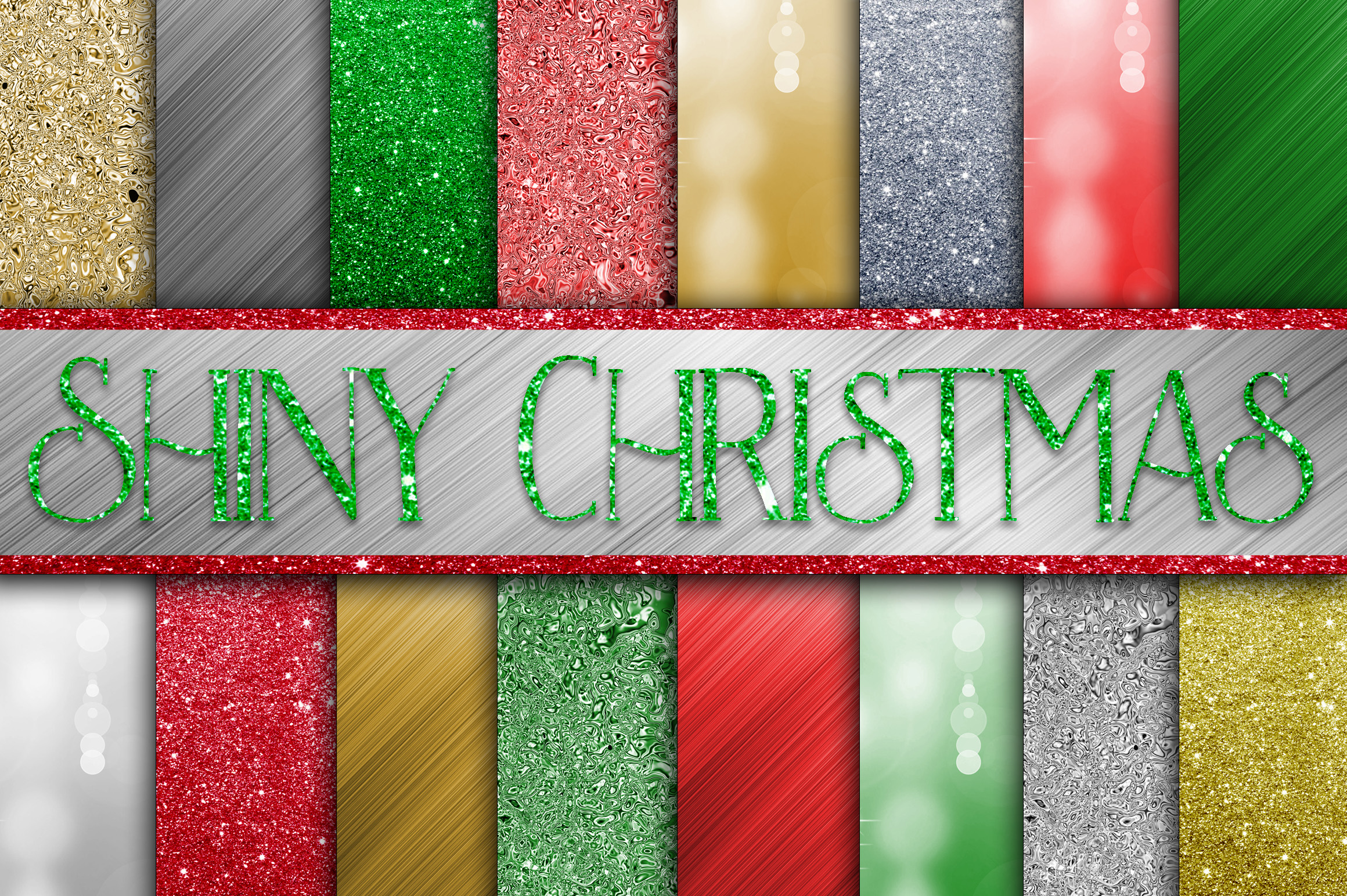Christmas Bundle - Includes Over 200 Digital Papers example image 5