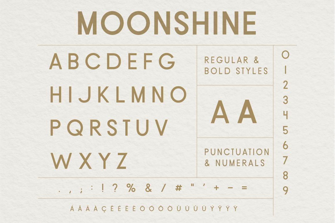 Moonshine Font | A Classic Sans Serif example image 5
