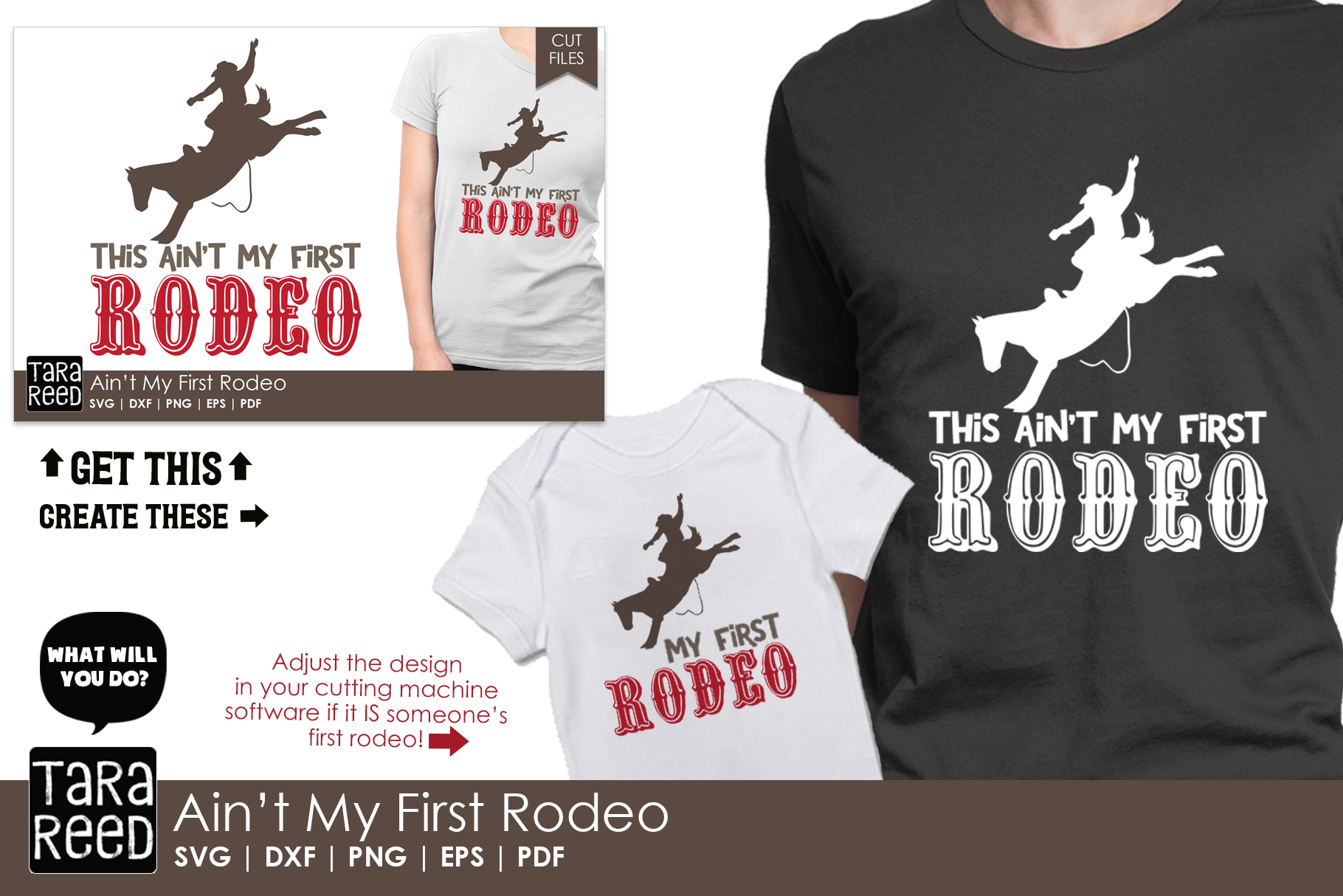 Ain't my First Rodeo - Rodeo SVG and Cut Files for Crafters example image 2