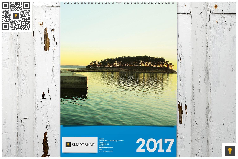 2017 Wall Calendar example image 2