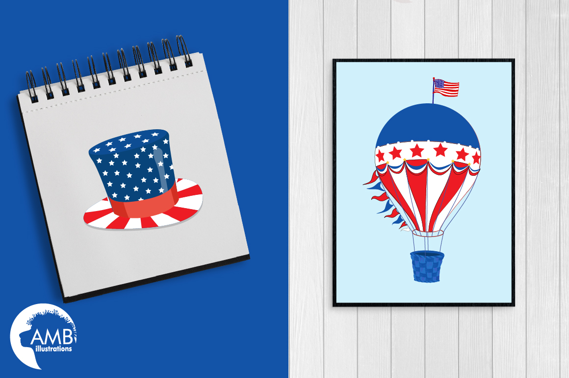 Fourth of July Cliparts, graphics, illustrations AMB-1367 example image 4