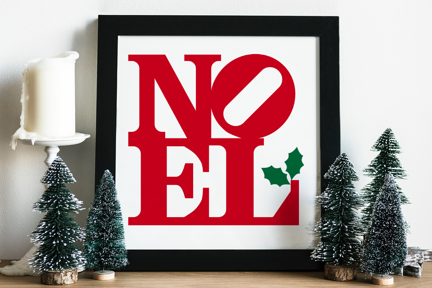 NOEL Square Christmas SVG File example image 2