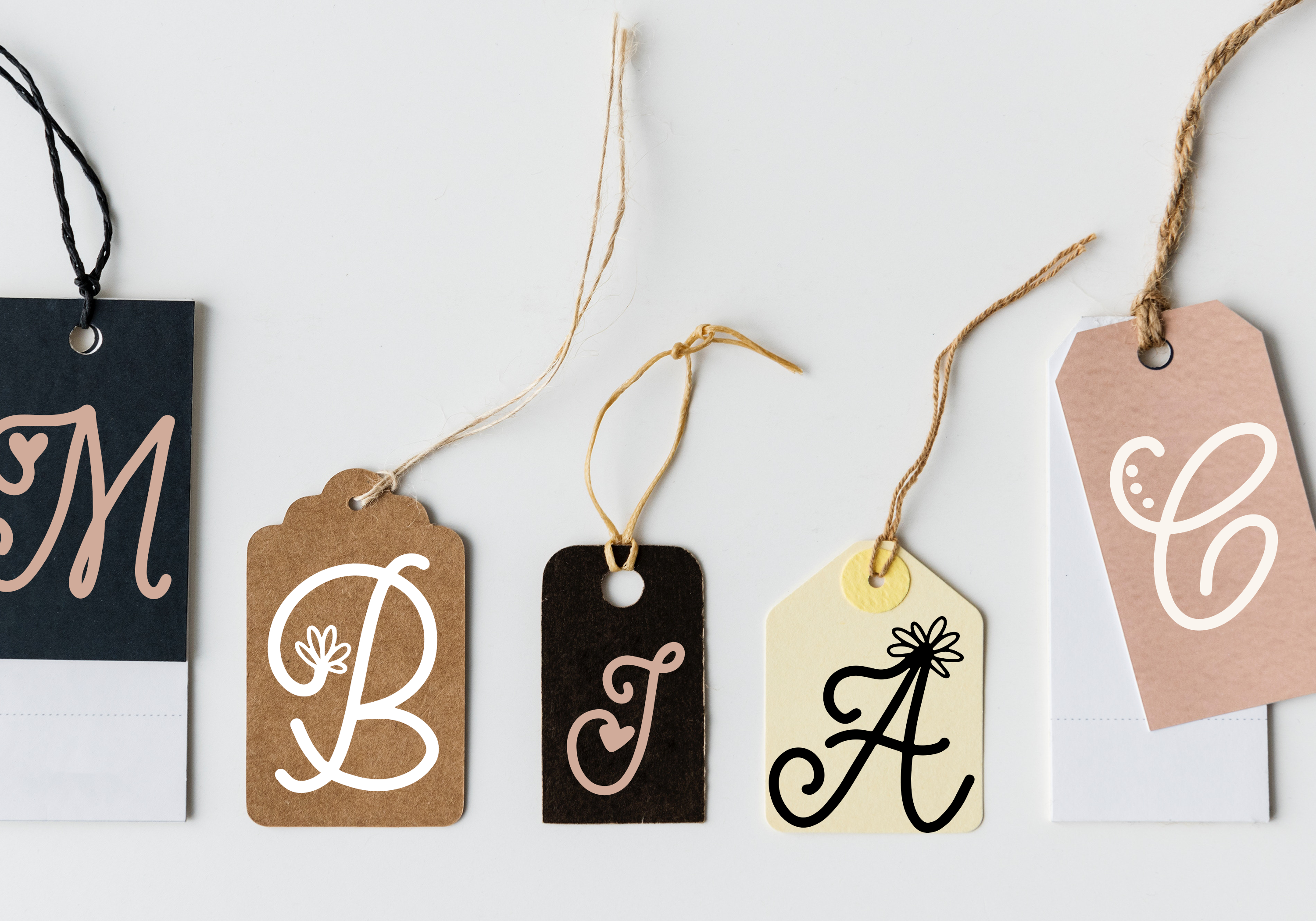 Handwritten Monogram Font - Four Styles example image 5