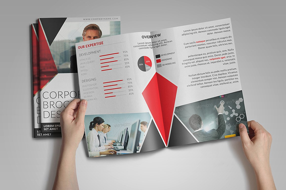 8 Page Corporate Bifold Brochure example image 3