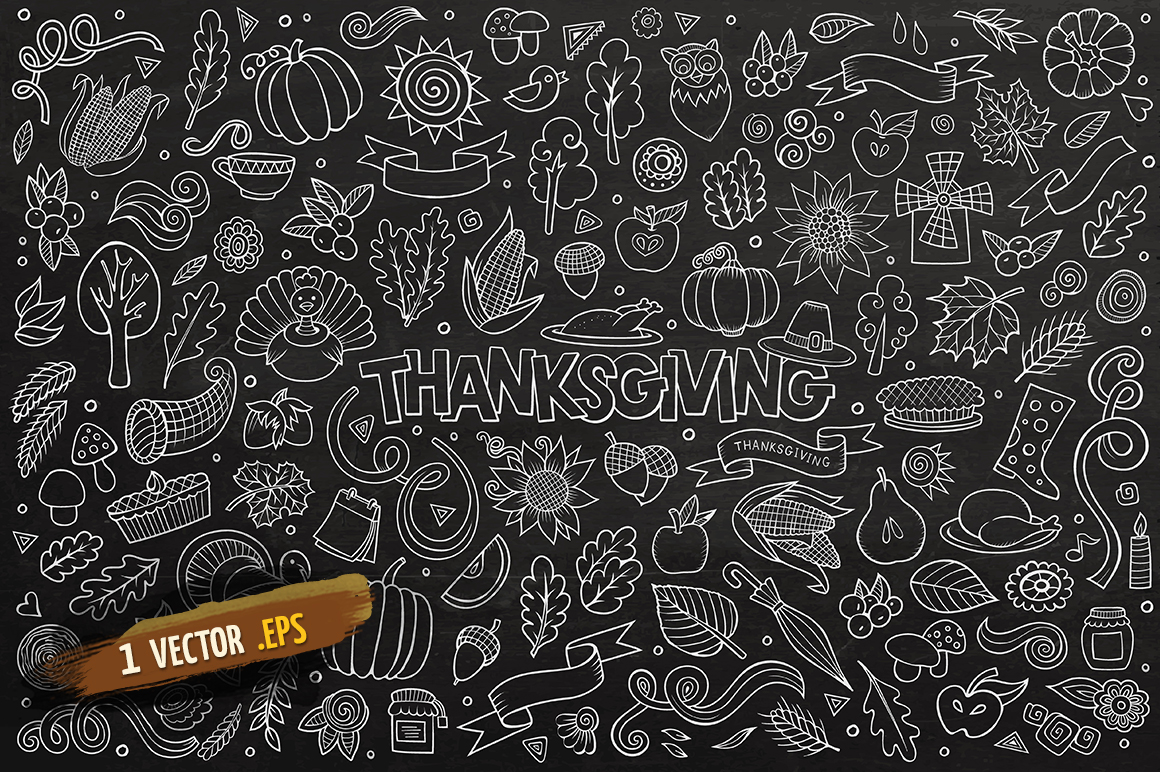 Thanksgiving Objects & Elements Set example image 3