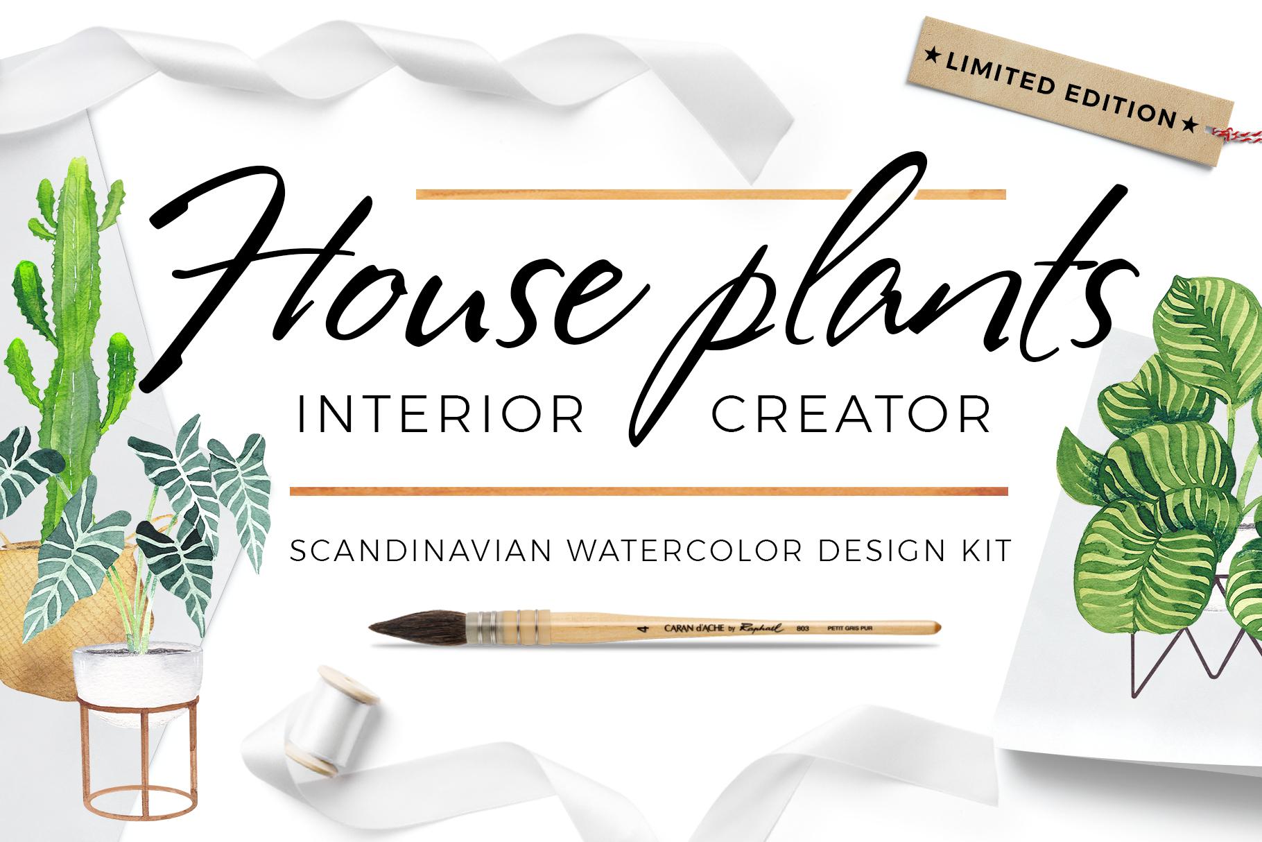 Scandi house plants interior creator example image 1