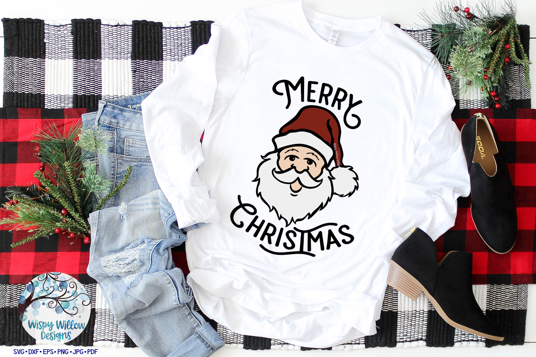 Merry Christmas Santa SVG | Retro Christmas Santa SVG File example image 3