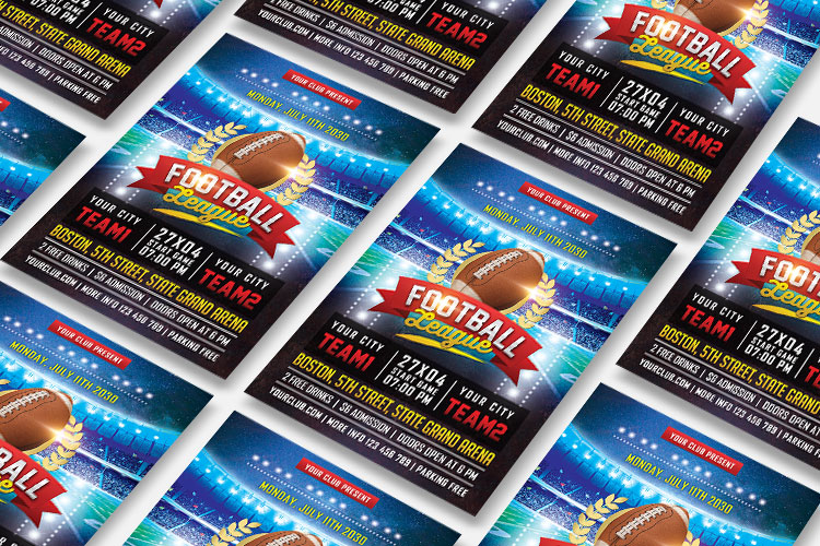 AMERICAN FOOTBALL FLYER example image 6