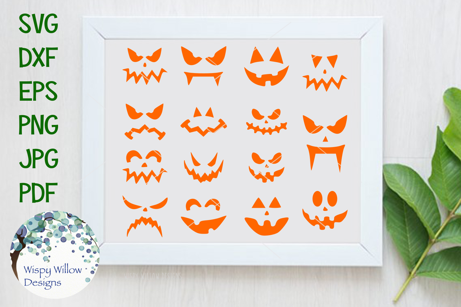 Halloween Pumpkin Faces | Jack o lantern | SVG Cut File example image 1