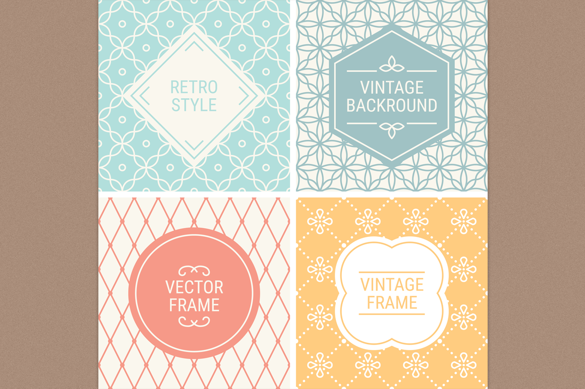 Mono Line Frames and Patterns - Set 8 example image 1