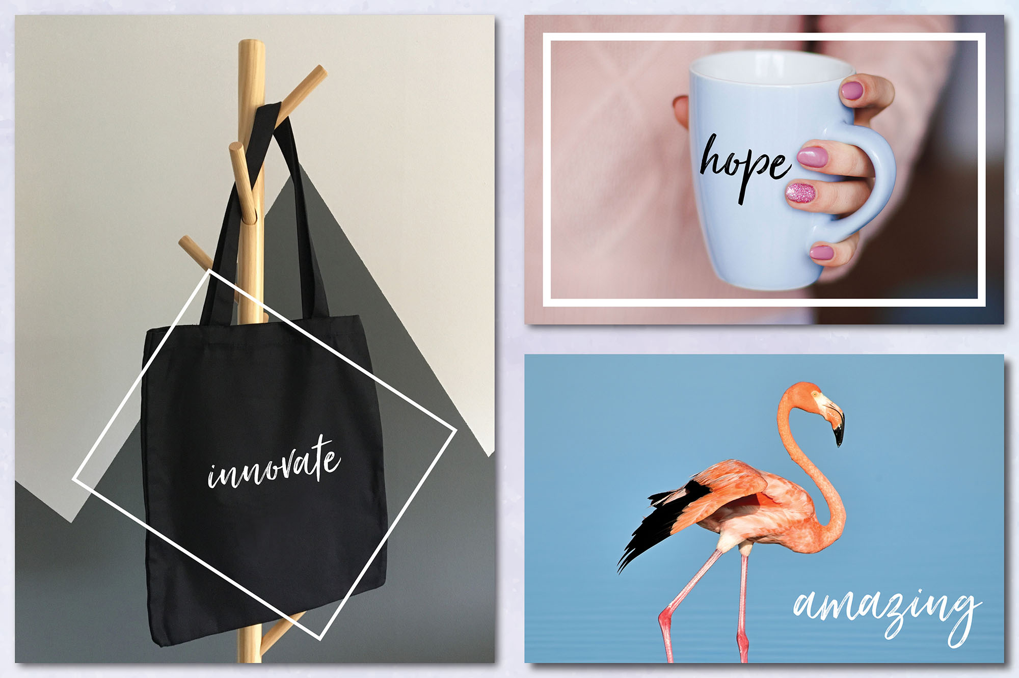Social Media Overlays Bundle - 712 Black and White Words example image 10