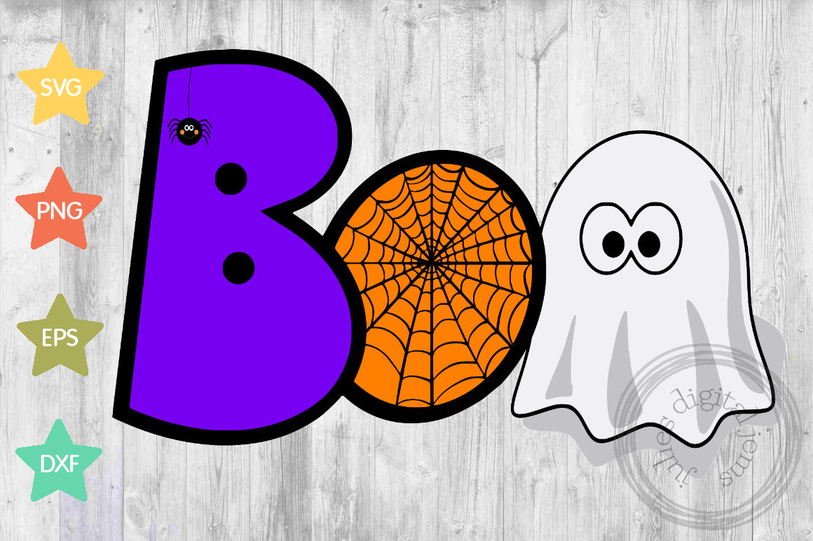 Boo web ghost SVG, Halloween svg, by Julies digital jems example image 1