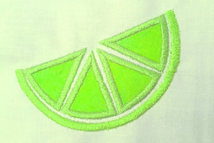 Citrus Slice Applique Embroidery Design example image 2