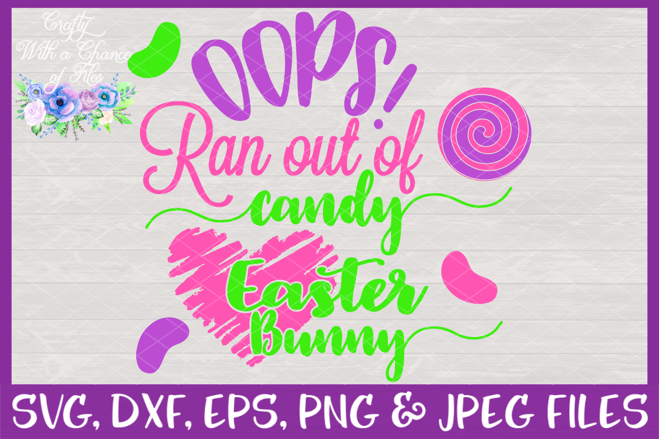 Oops! Ran Out Of Candy SVG - Easter Toilet Paper Design example image 3