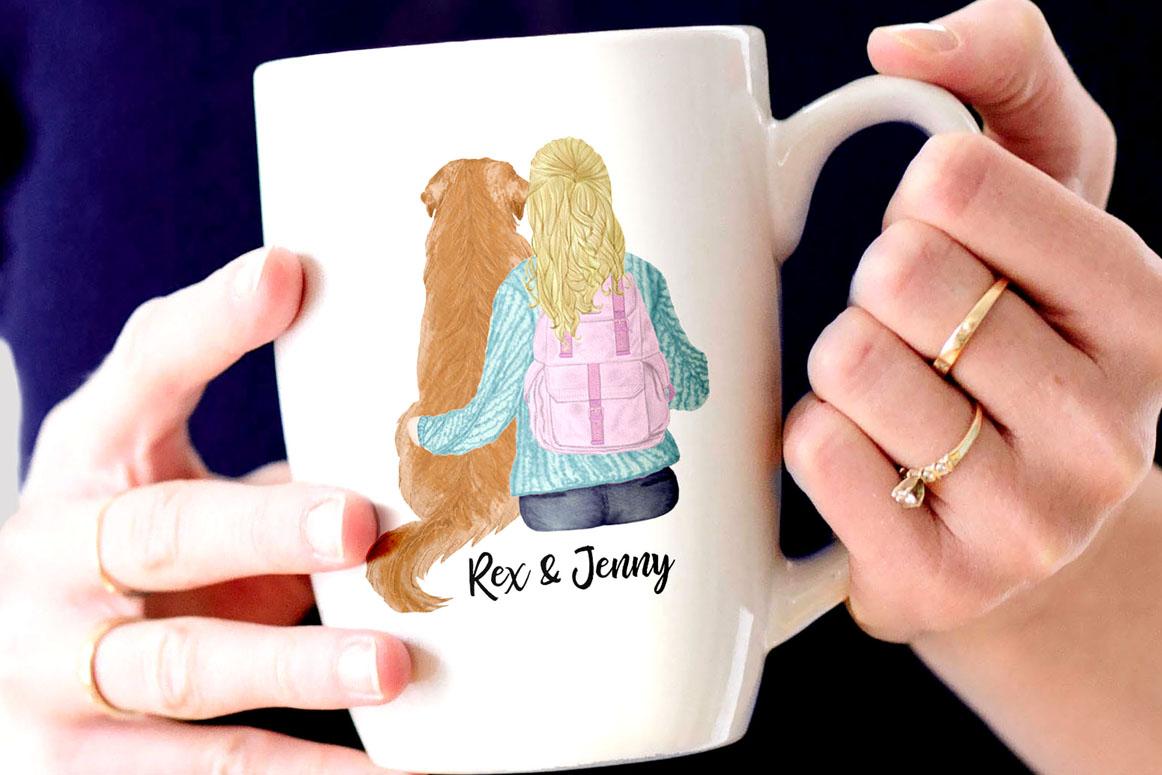 Girls clipart,BEST FRIEND CLIPART,Planner Girls Mug Designs example image 4