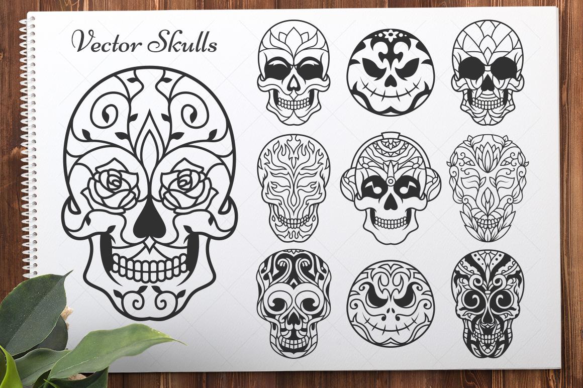 50 Vector Sugar Skulls example image 6