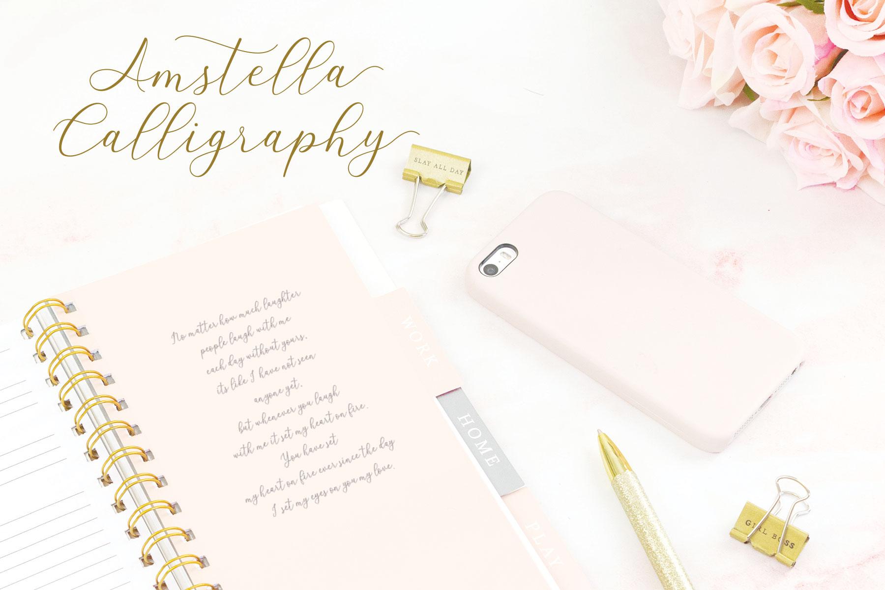 Amstella Modern Calligraphy example image 10