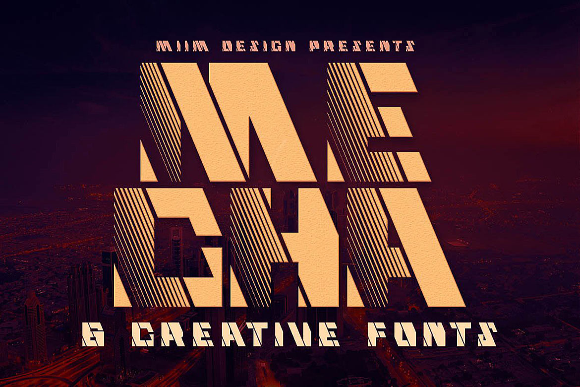 Mecha - Display Font example image 1