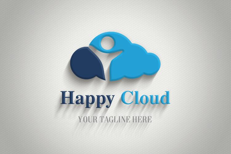 Happy Kid In Cloud Logo example image 3
