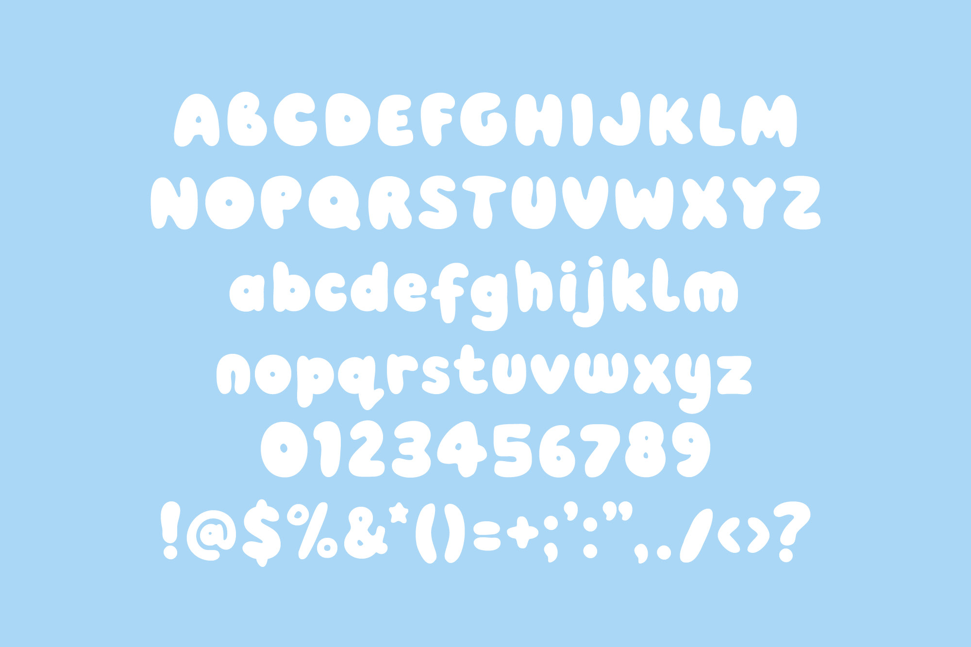 Pobble - a fun, round display font example image 2
