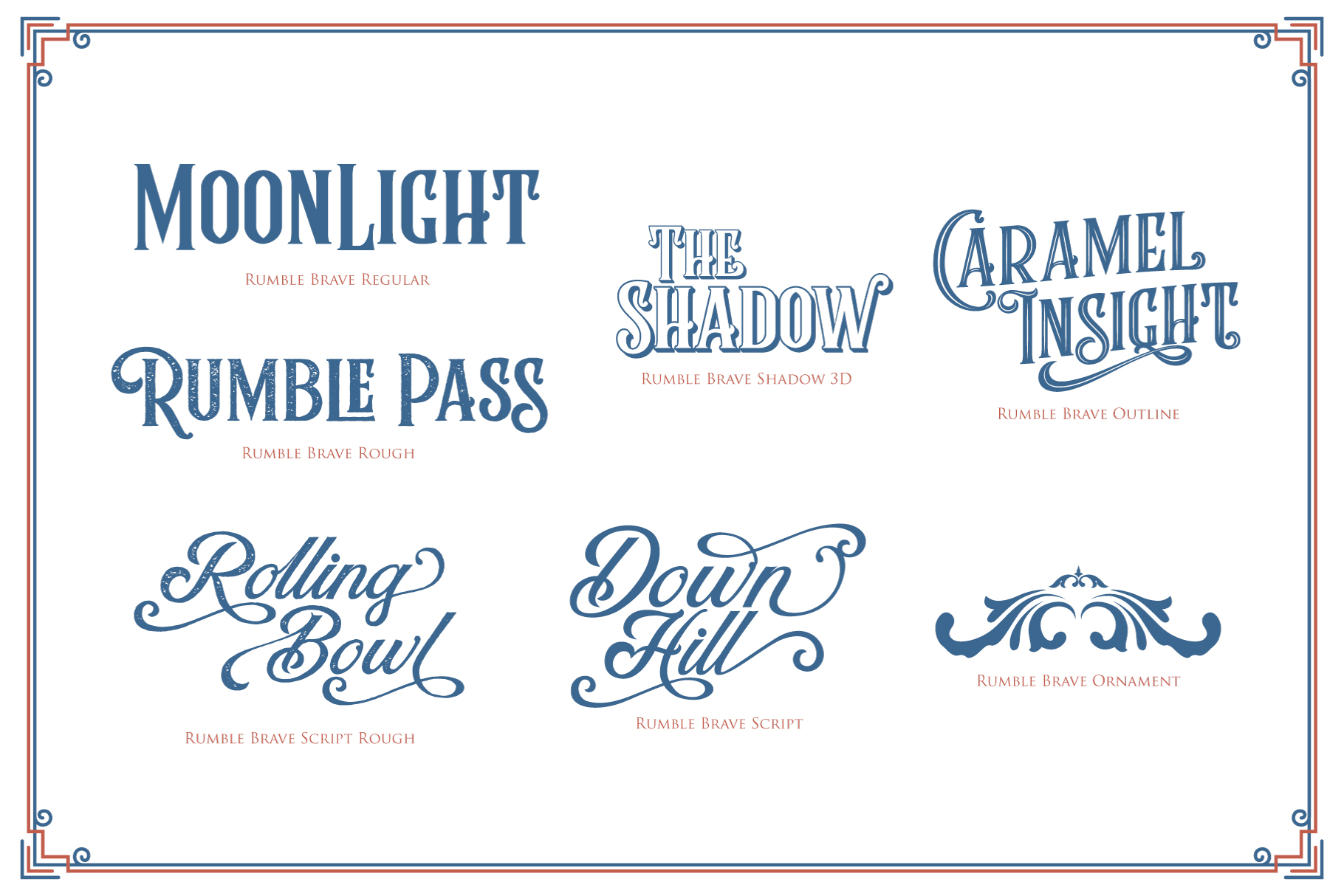 Rumble Brave Vintage Fonts example image 8