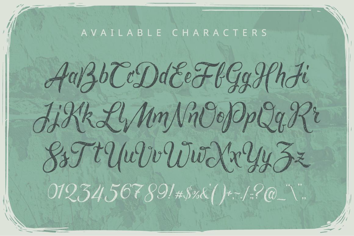 Rusted brushpen script + bonus example image 2