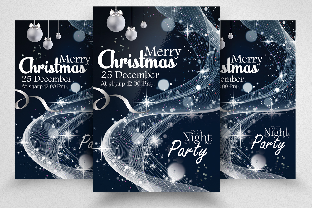 Christmas Greeting Flyer/Poster Template example image 1