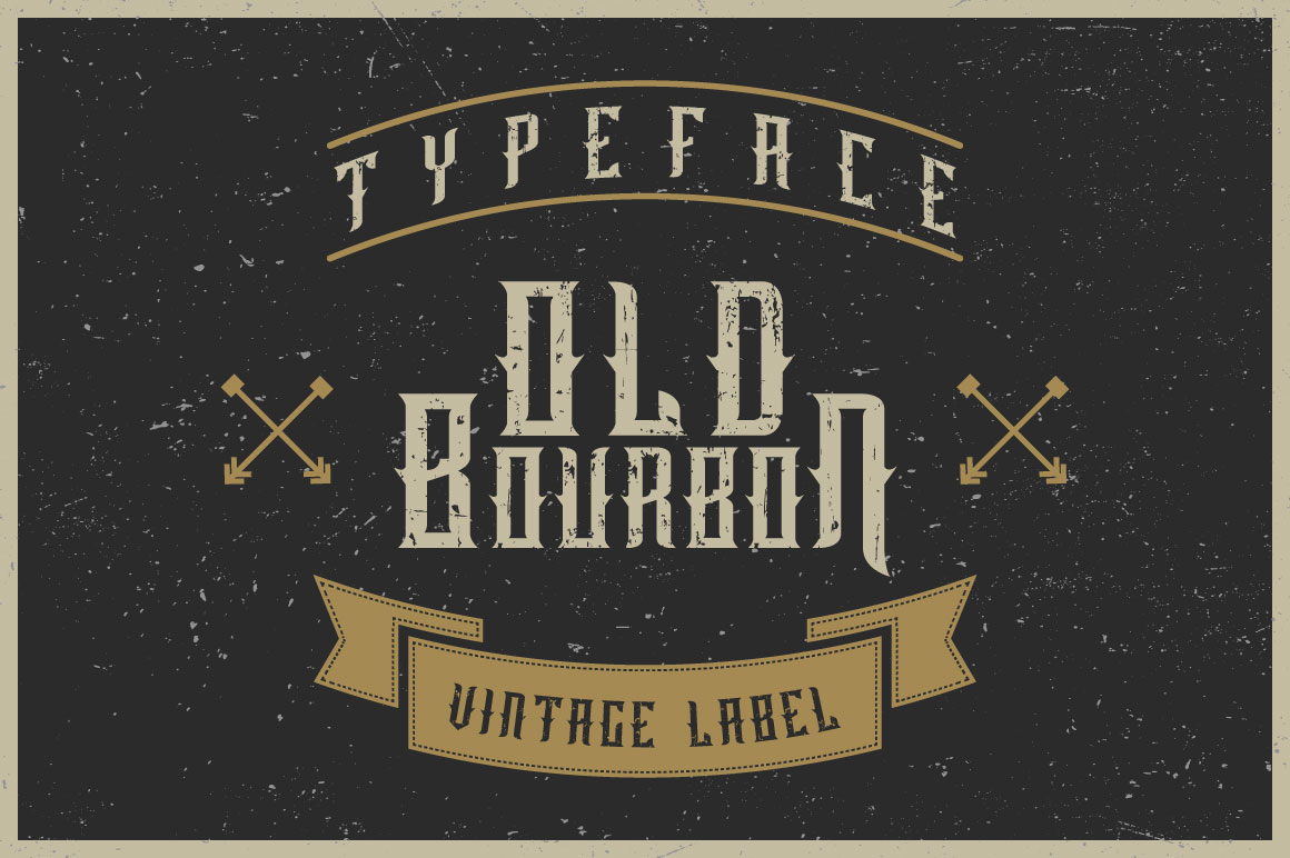 Old Bourbon label font example image 1