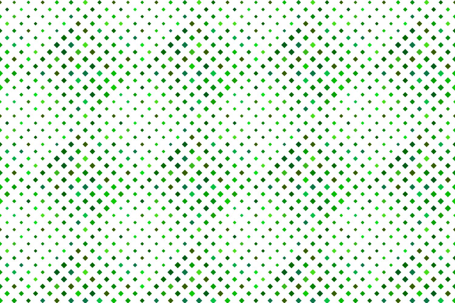 24 Seamless Green Square Patterns example image 2