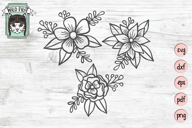 Flower SVG files, Flower cut file, Flower Bundle SVG example image 1
