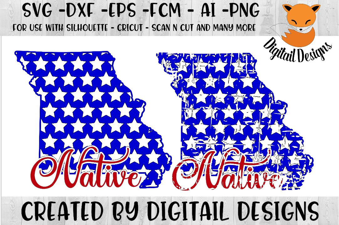 Missouri State SVG - png - eps - dxf - ai - fcm - example image 1
