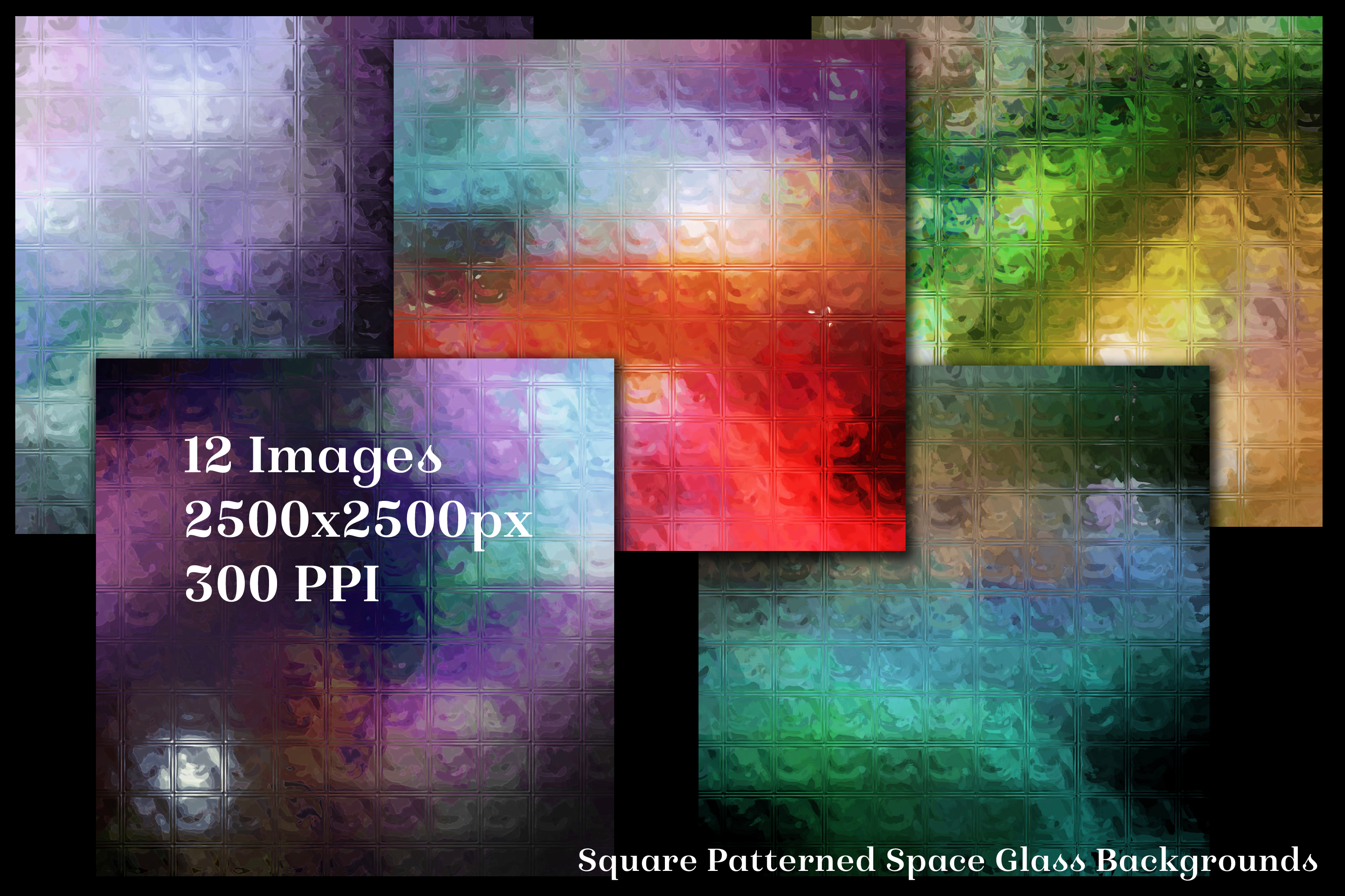 Square Patterned Space Glass Backgrounds - 12 Image Textures example image 2