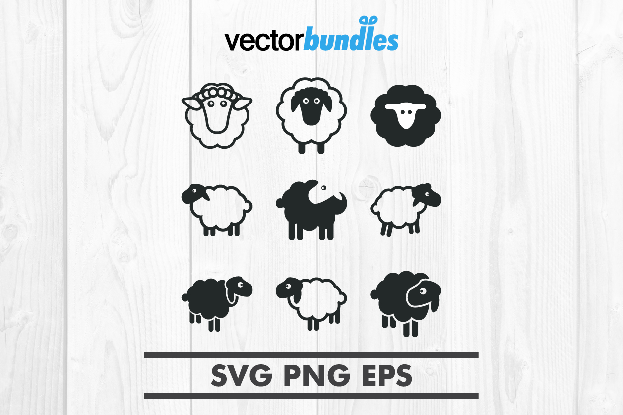 Sheep clip art svg example image 1