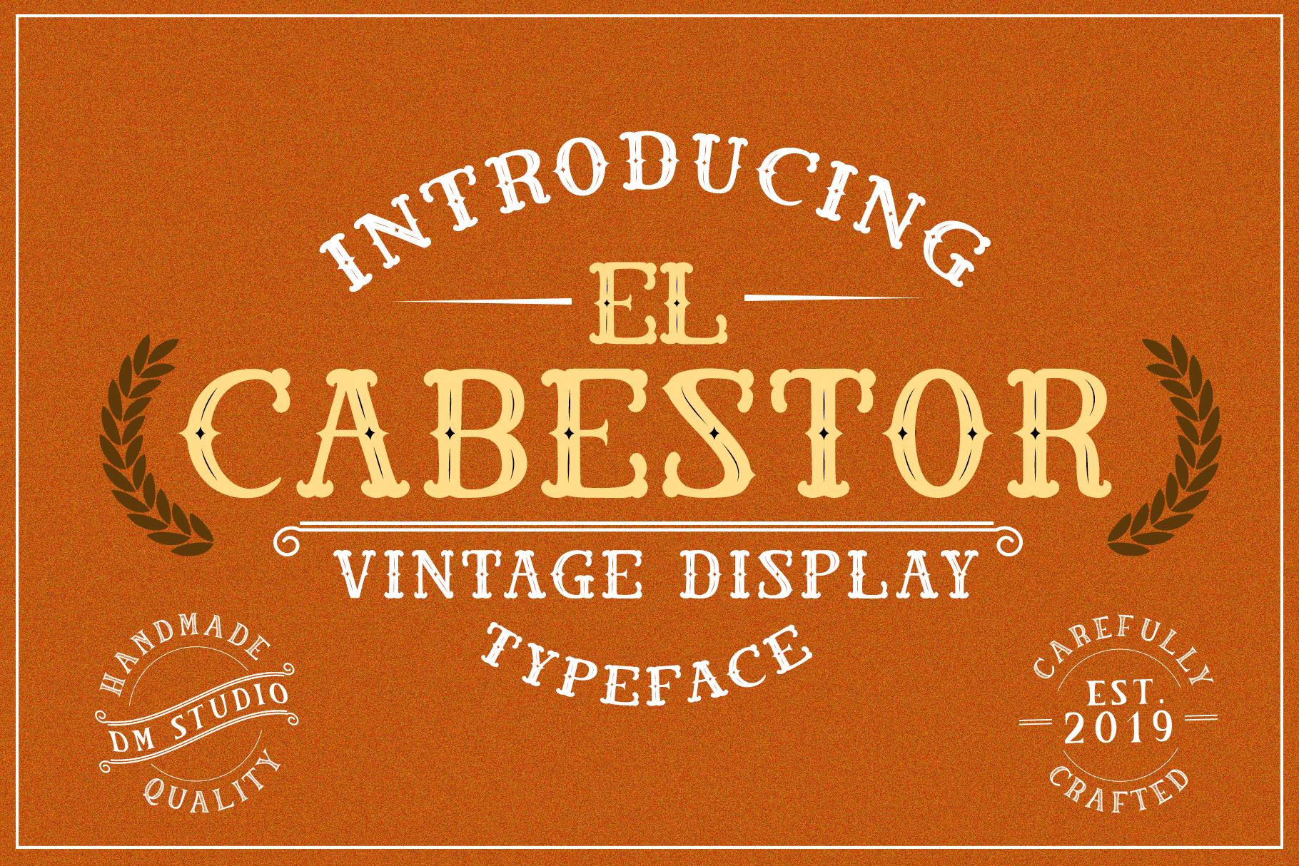 El Cabestor - Vintage Display Typeface & EXTRA example image 1