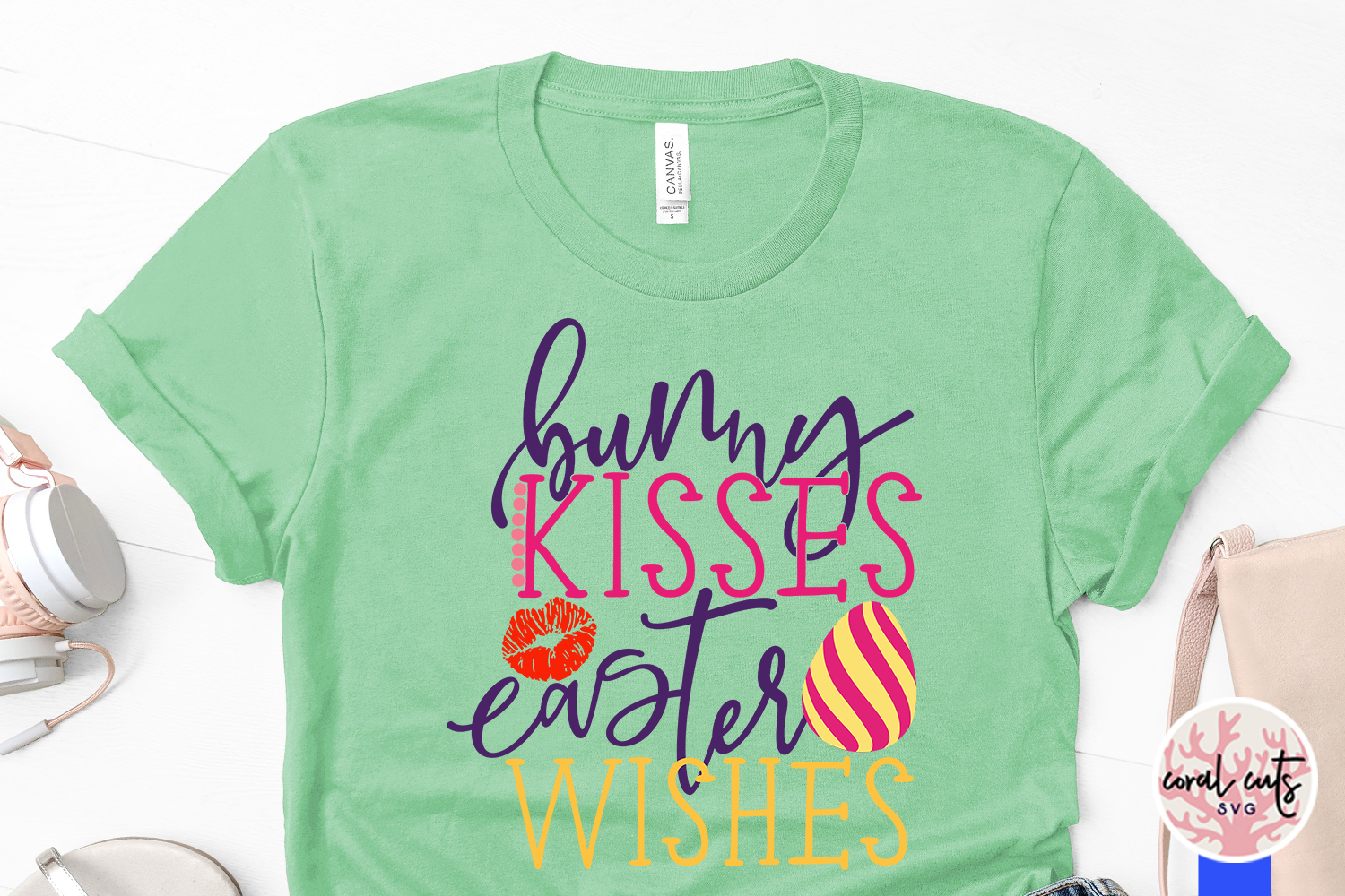 bunny kisses easter wishes - Easter SVG EPS DXF PNG example image 3