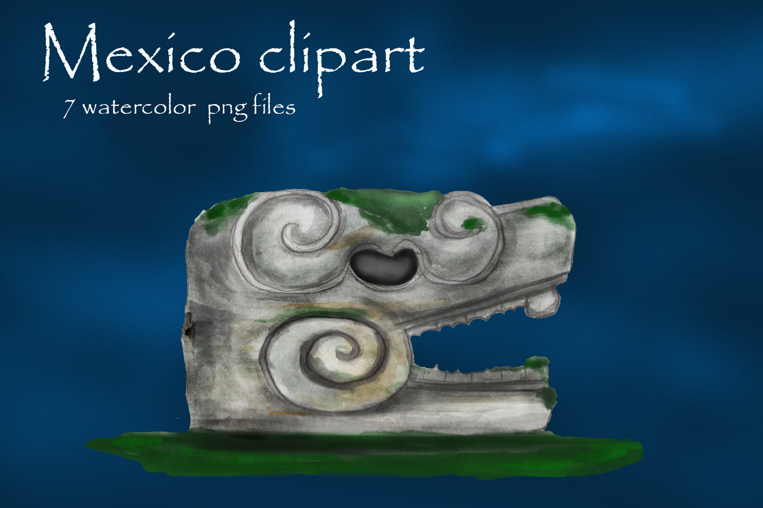 Mayan clipart, ancient civilizations of Mexico watercolor example image 3