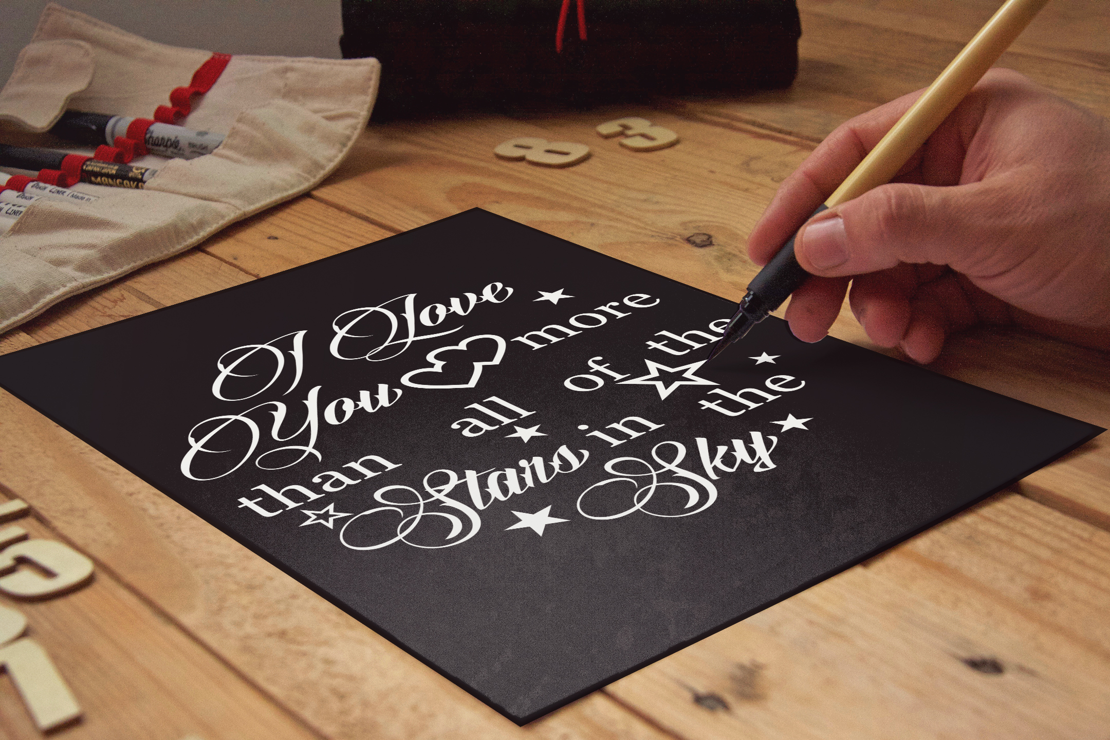 I love you more than all the stars Valentine svg Love svg example image 3