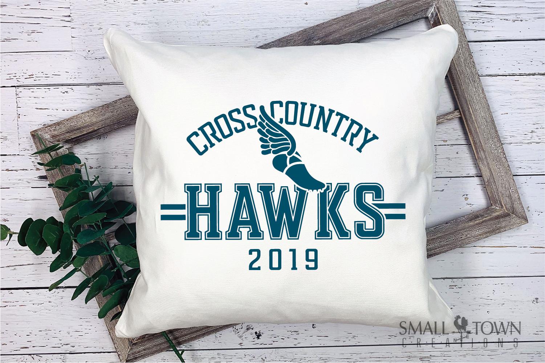 Hawks Cross Country Team, Hawk Mascot, PRINT, CUT & DESIGN example image 3
