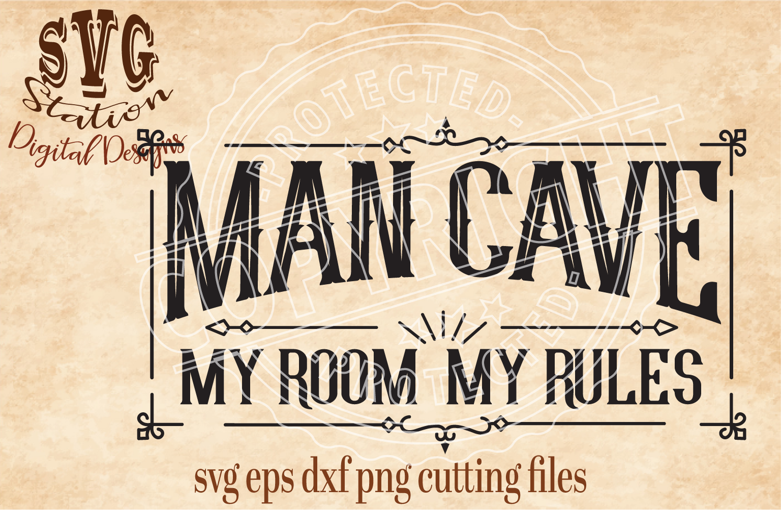 Man Cave Cut File example image 1