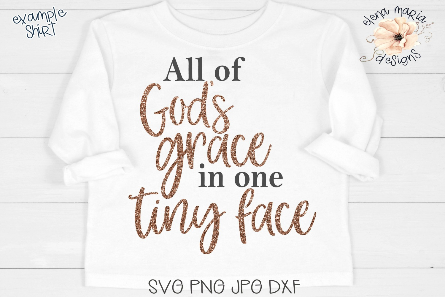 All Of God's Grace In One Tiny Face SVG example image 1