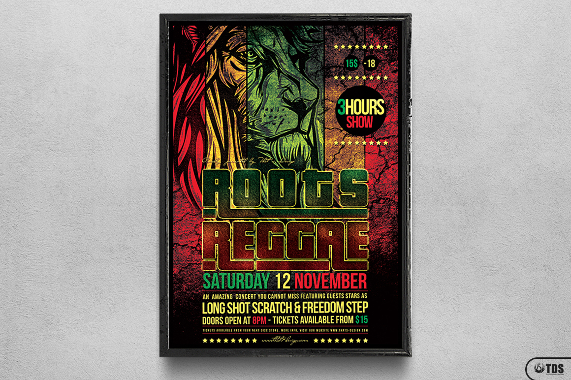 Roots Reggae Flyer Template example image 6