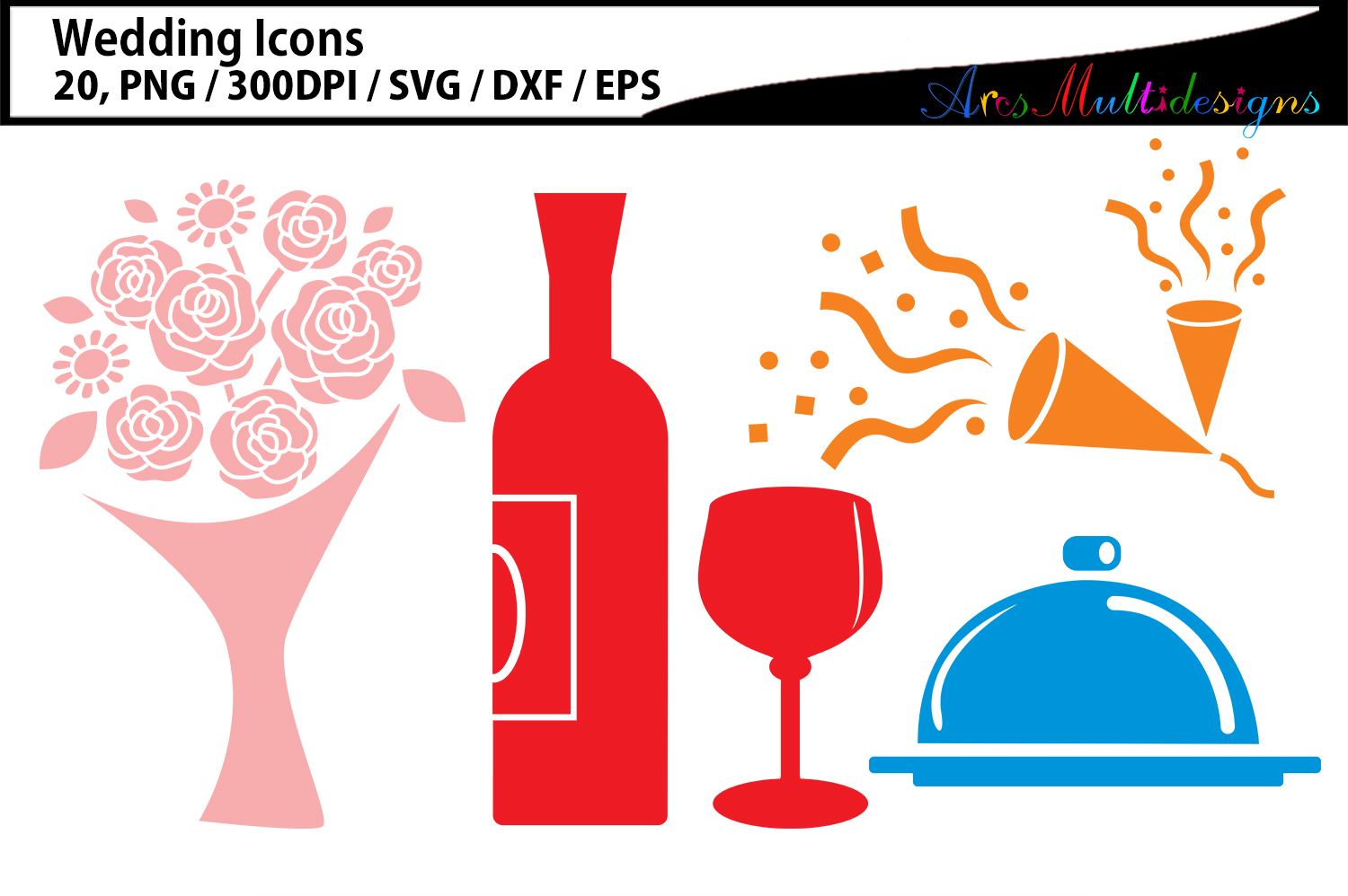 Wedding clipart SVG / Wedding party icon clipart example image 3