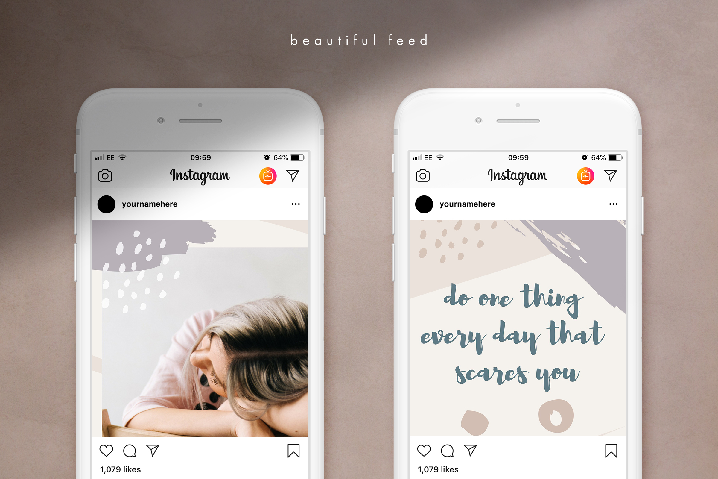 Instagram grid layout pack for Canva example image 4