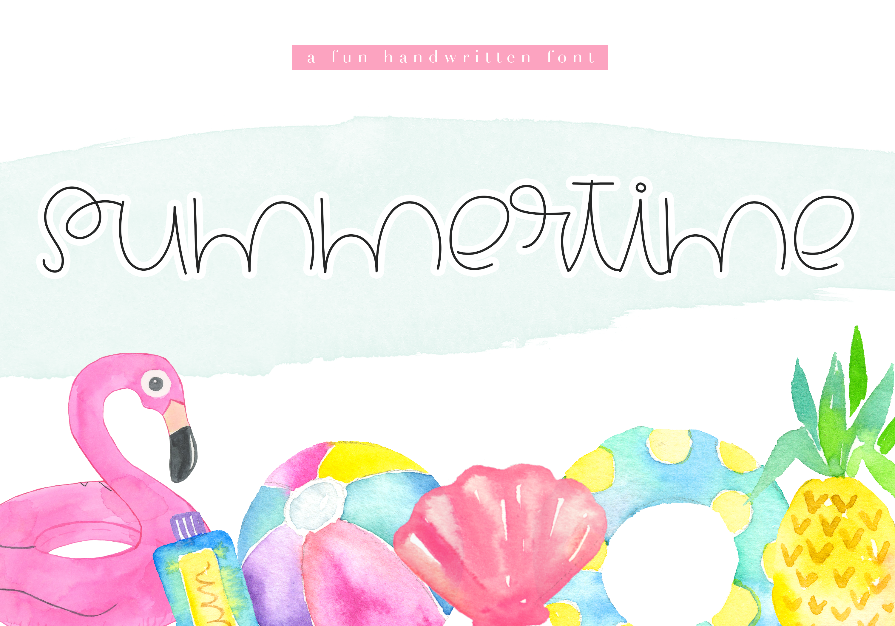 Summertime - A Cute Handwritten Font example image 1