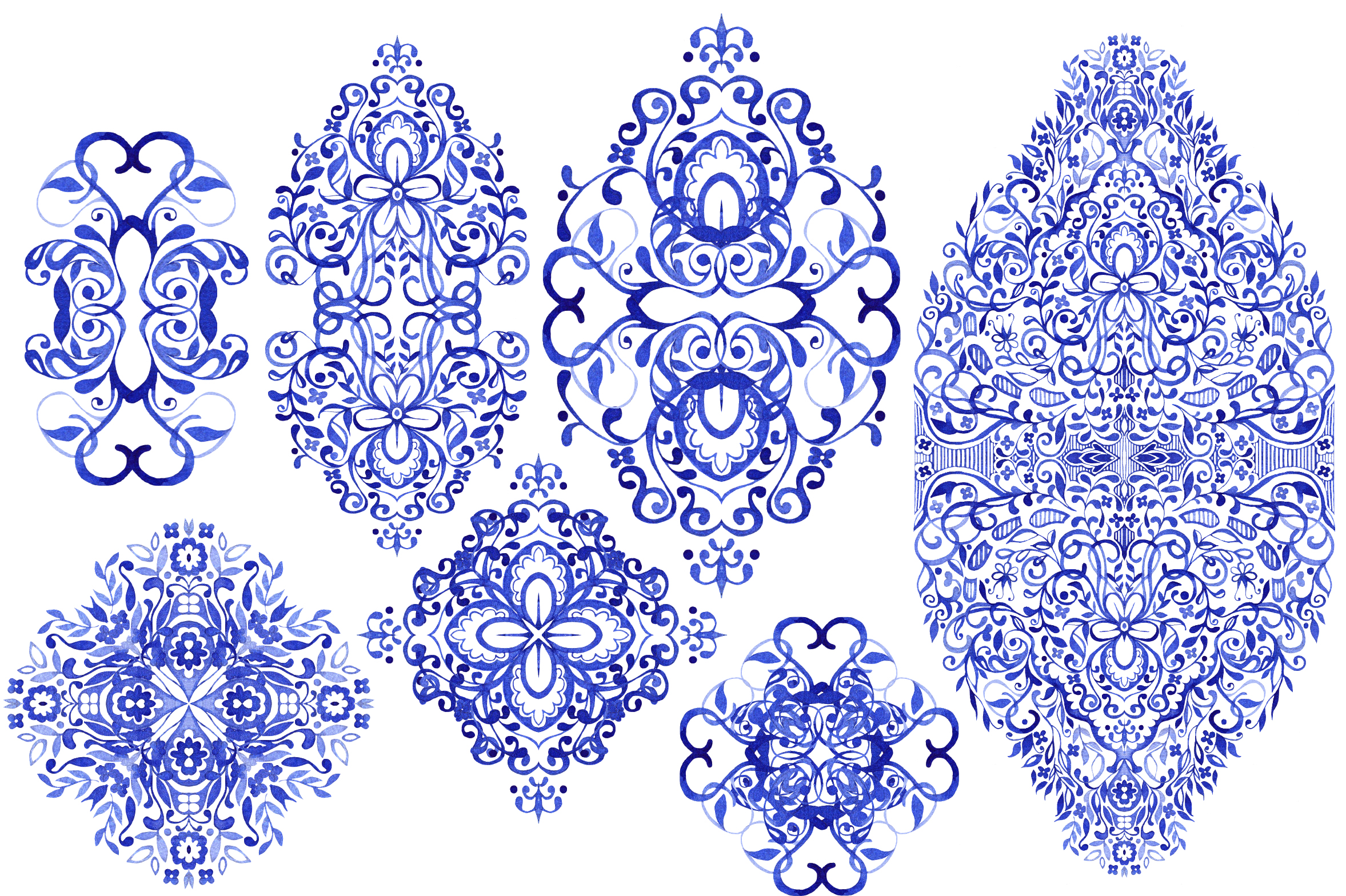 Hand Drawn Watercolor LACE example image 4