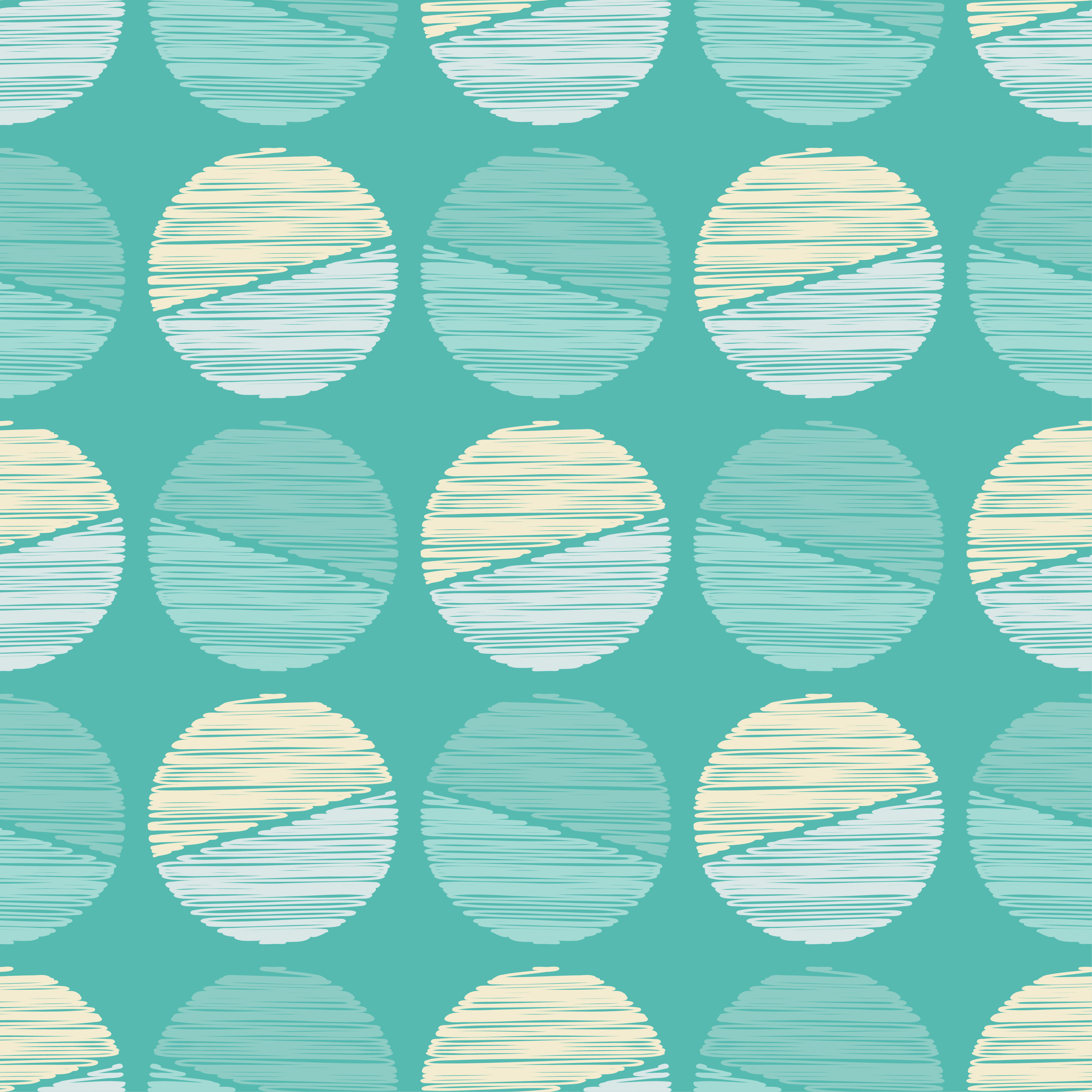 Polka dot seamless pattern. Scribble texture.  example image 5