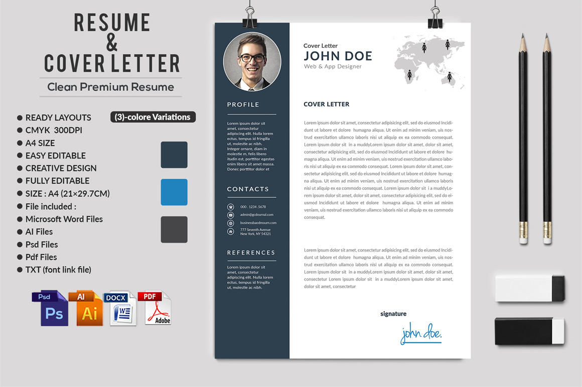 12 Clean Rsume Invoice and Letterhead Bundle example image 9